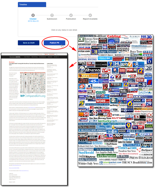 Step 3: We distribute your news release to hundreds of authority sites