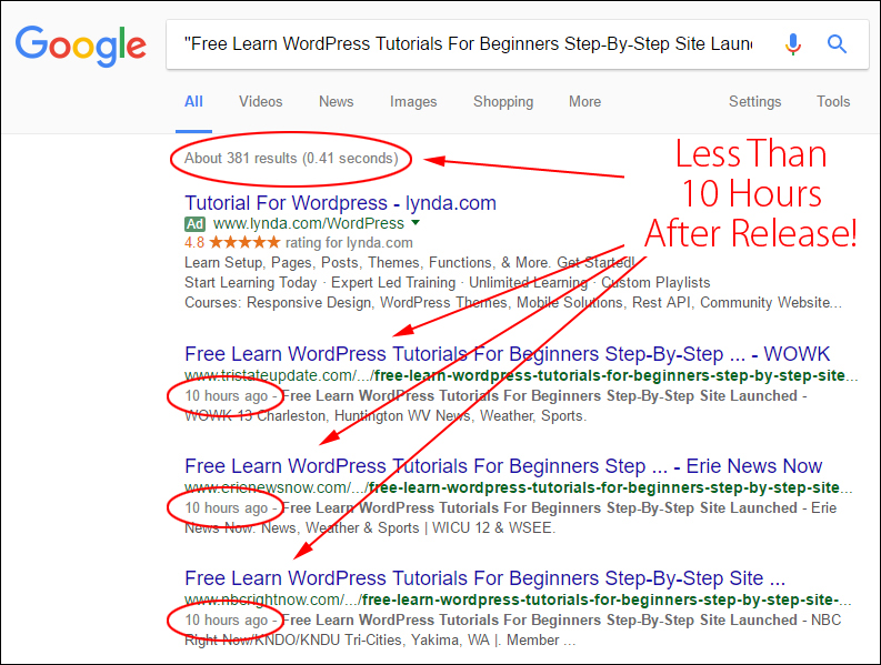 Google Needs Quality Content From Authority Sites ... We Deliver It!