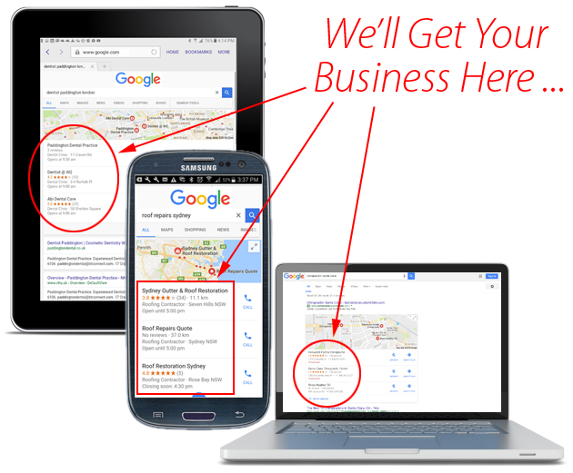 We'll Get Your Business At The Top Of Google Search Results!