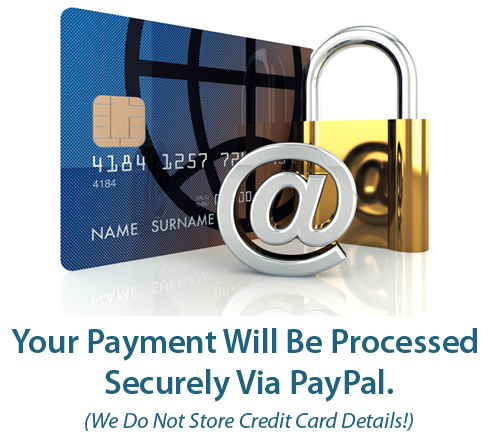 All Payments Are Processed Securely Using PayPal